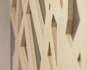 Dekoratyvinės sienelės fragmentas