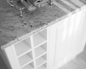 Virtuvės baldų fragmentas